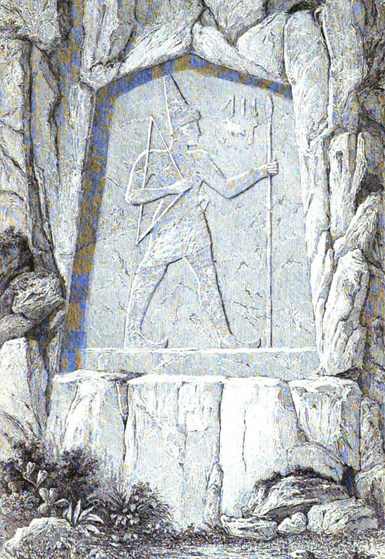 An 1864 depiction of one of the Karabel reliefs