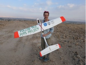 The archaeological UAV and Morag Kersel.