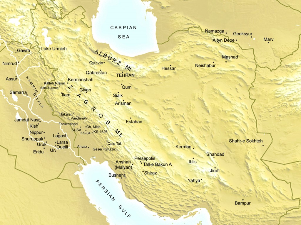 Map of Iran. All figures courtesy of Abbas Alizadeh.