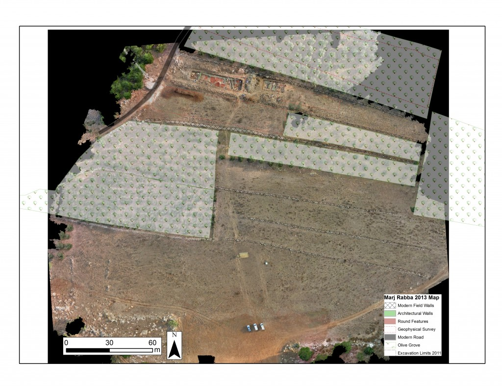 Orthophotographic map using UAV derived images (A.C. Hill, image courtesy of the Galilee Prehistory Project).