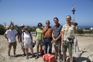 Andrew McCarthy, Susan Ackerman, Alina Levy, and Tom Levy, with Bleda Düring and members of the Cholarakas-Palloures excavation team.